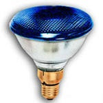 Лампа накаливания SLV PAR38 FLOOD BLUE 30° 80W 230V E27 фара синяя d122х136