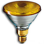 Лампа накаливания SLV PAR38 FLOOD YELLOW 30° 80W 230V E27 фара жёлтая d122х136